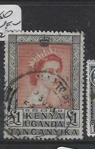 KENYA, UGANDA, TANGANYIKA   (PP0106B)  QEII  L1    SG 180   VFU