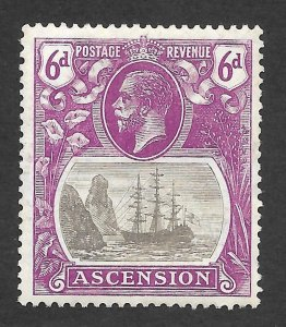Doyle's_Stamps: MH 1924 British Ascension 6-Pence KGV Scott  #17* VF-XF, cv $62+