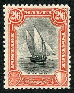 Malta SG169 Black and Vermilion Wmk Mult Script CA M/M