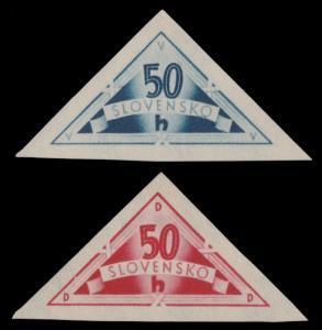 ✔️ SLOVAKIA 1940 - SPECIAL DELIVERY TRIANGLES - SC. EX1/EX2 MNH OG [SK076A]