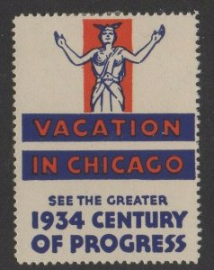 USA 1934 World's Fair Vacation in Chicago A Century of Progress MLH OG