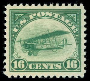 momen: US Stamps #C2 MINT OG NH PSE GRADED Cert XF-SUP 95