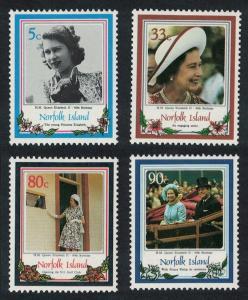 Norfolk 60th Birthday of Queen Elizabeth II 4v SG#389-392 SC#385-388