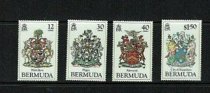 Bermuda:1985, Bermuda Coats of Arms, (3rd series)  MNH set