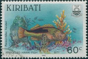 Kiribati 1990 SG336 60c Freckled Hawk-fish FU