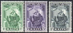 Malta 1951 Seventh Centenary of the Scapular MH