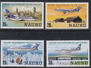 Nauru # 210-213, Air Nauru 10th Anniversary, NH