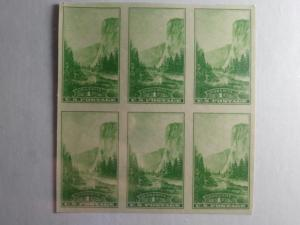 SCOTT # 756 BEAUTIFUL BLOCK OF 6 IMPERFERATED  NGAI MINT NEVER HINGED GEM