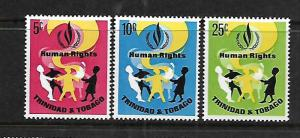 TRINIDAD & TOBAGO, 136-138, MNH, HUMAN RIGHTS