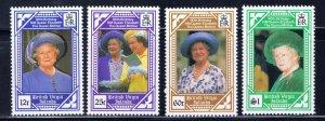 Virgin Is 673-76 MNH 1990 Queen Mother Birthday