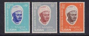 Sudan  #185-187   MNH  1966  El Siddiq el Mahdi