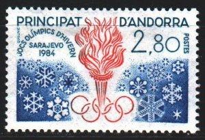 Andorra. 1984. 348. Sarajevo, winter olympic games. MLH.