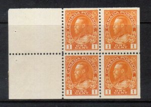 Canada #105a Very Fine Never Hinged Booklet Pane