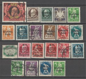 COLLECTION LOT # 4527 BAVARIA 21 STAMPS 1911+ CV+$17 CLEARANCE