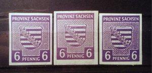 Germany Provinz Sachsen Mi 69X abc **