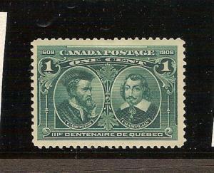 CANADA 1897 #97 QUEBEC TERCENTENARY ISSUE MLH  LOT#532