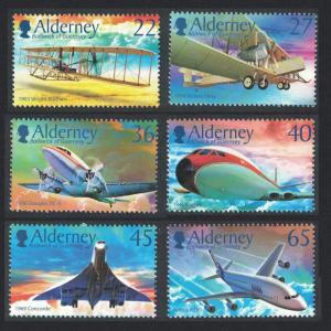 Alderney Centenary of Powered Flight 6v SG#A204-A209
