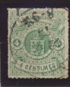 Luxembourg Stamp Scott #16, Used - Free U.S. Shipping, Free Worldwide Shippin...