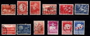 Denmark 1954-1959 Commemoratives, Complete Sets [Used]