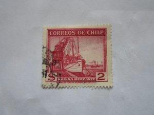 CHILE STAMP USED IN FINE CON. HR # 10