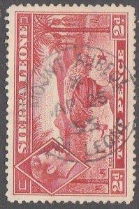 SIERRA LEONE 1955 GVI 2d - MOUNT AUREOL cds - scarce open 1955-61?..........7123