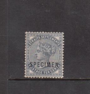 Straits Settlements #39s (SG #49s) Extra Fine Mint With Specimen Overprint