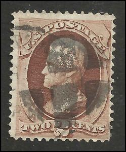 # 146 Red Brown Used FAULT Andrew Jackson
