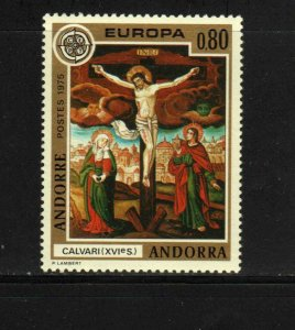 ANDORRA, FRENCH #236  1975   EUROPA  MINT VF NH  O.G