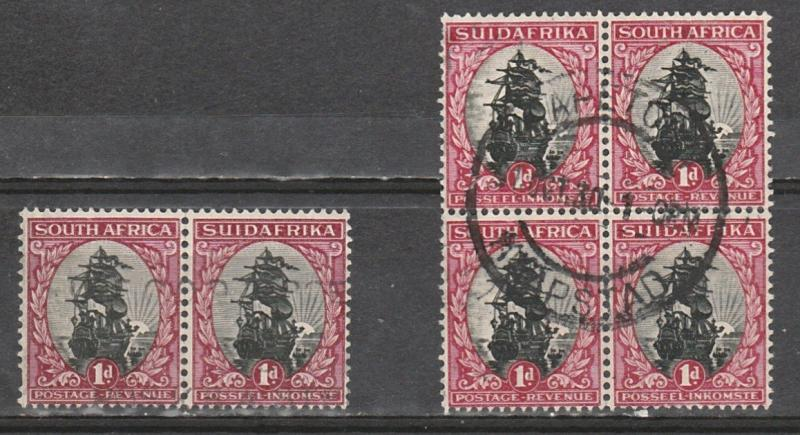 #34 South Africa Used pair & block of 4