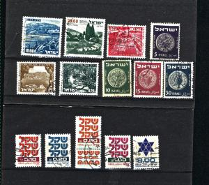 Isreal 14 different  used PD