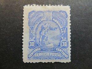 A4P11F8 Honduras 1892 30c mh*