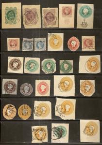 India QV Collection of Postal Stationery Cutouts (57)