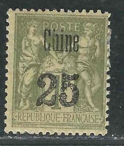 France Off China 13 Yv 18 MLH F/VF 1894 SCV $125.00