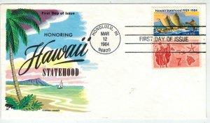 FLUEGEL HAWAII STATEHOOD #2080 Stamp Issue + C55 Stamp / Cachet Full Color!