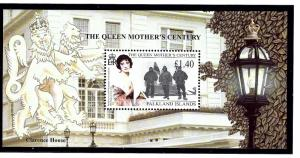 Falkland Is 738 MNH 1999 Queen Mother S/S