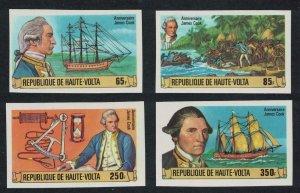 Upper Volta Captain James Cook 4v Imperf 1978 MNH SG#487-490 MI#719-722