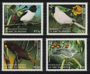 Micronesia Monarch Starling White-eye Birds 4v SG#629-632