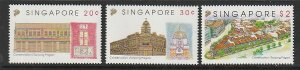 1993 Singapore -Sc 650-2 - 3 singles - MNH VF - Preservation of Tanjong Pagar