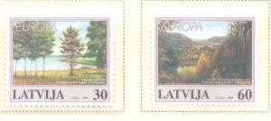 Latvia Sc 484-5 1999 Europa stamp set mint NH