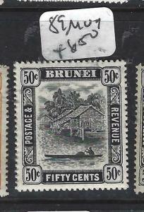 BRUNEI  (PP0905B) 50C RIVER SG 89   MOG