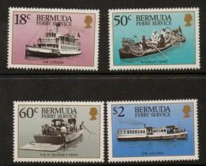 BERMUDA SG574/77 1989 TRANSPORT MNH
