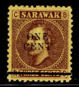 SARAWAK Scott 25 Mint No Gum, MNG 1892