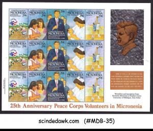 MICRONESIA - 1992 25th ANNIV. OF PEACE CORPS VOLUNTEERS / KENNEDY MIN/SHT MNH