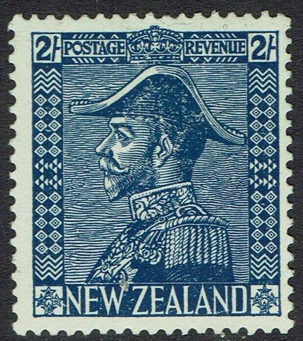 NEW ZEALAND 1926 KGV ADMIRAL 2/- DEEP BLUE