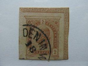 Austria Österreich Autriche Postal Stationery Cut Out A14P8F2