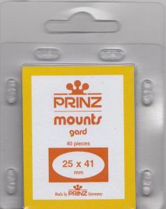 PRINZ CLEAR MOUNTS 25X41 (40) RETAIL PRICE $3.99