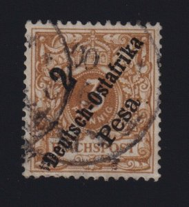 German East Africa #6a (1896) 2pes on 3pf yellow-brown Surcharge Germany VF