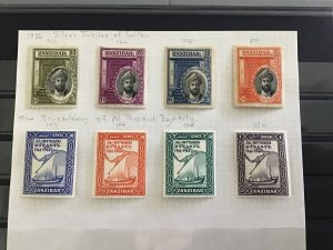 Zanzibar 1936 Silver Jubilee of Sultan   mounted mint and used stamps R29552