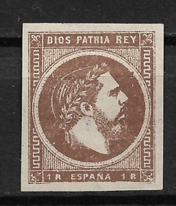 1875 Spain ScX7 Carlist 1r unused/no gum