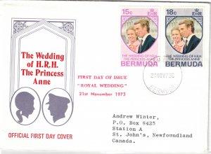 BERMUDA - FDC Royal Wedding 1973 SG297-298 Cache